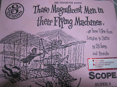 Super 8 Those Magnificent Men in their Flying Machines DERANN 5x600 feet SCOPE