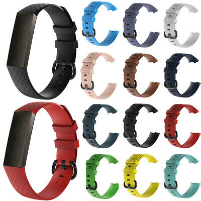 Watch Band Strap Replacement Bracelet Wristband Silicone S/L For Fitbit Charge 3