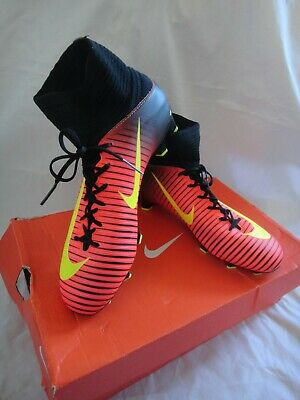 Nike JR Mercurial Superfly V FG Kids Sock Football Boots size UK 4 worn once
