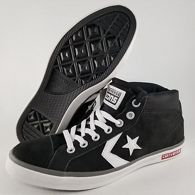 bf8a7d4805 Converse Star Street Mid Top Skate Shoes Size 9 Mens Sneakers Black White  Red
