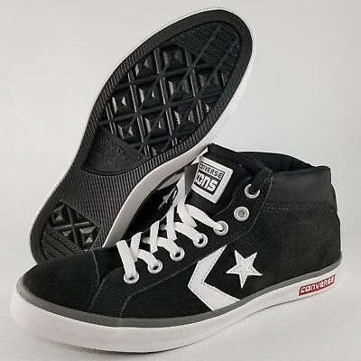 8fe72276ff Converse Star Street Mid Top Skate Shoes Size 9 Mens Sneakers Black White  Red