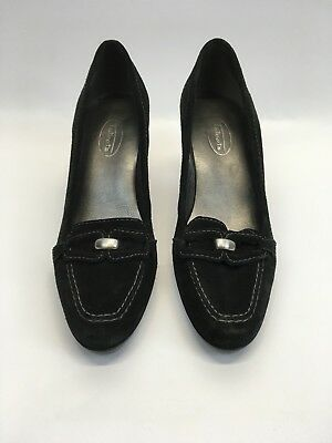 c5edbf087a5 Talbots Womens Shoes Leather Suede Pumps High Heels Black Career Work Size  7.5 B