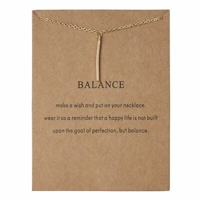 Fashion Gold Simple Balance Charms Pendant Necklace Womens Jewellery Party Gift