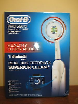 Braun Oral B Pro 5500 SmartSeries Rechargeable Toothbrush  Bluetooth