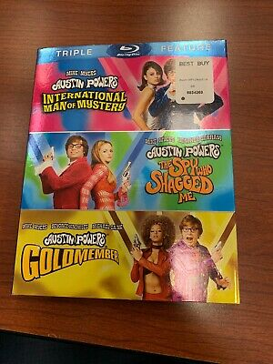 Austin Powers Triple Feature (Blu-ray, 3 Discs, All 3 Movies)