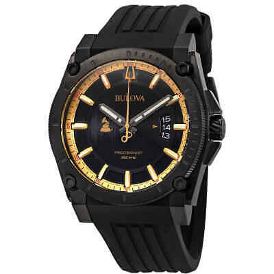 Bulova Precisionist Quartz Black Dial Men's Watch 98B294