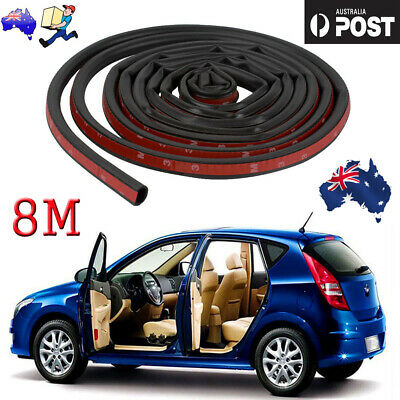 8M D-shape Car Truck Motor Door Rubber Seal Strip Weatherstrip Seals New