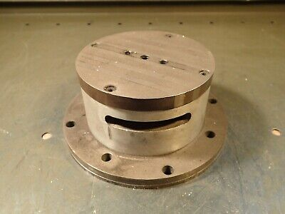 """4-1/4"""" OD Round Permanent Magnet Type Magnetic Mag Lathe Chuck: Used Good Cond"""