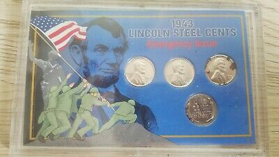 1943 Lincoln Steel Cent Set - Emergency Issue Penny Collection Uncirculated