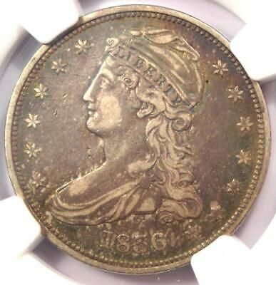1836 Reeded Edge Capped Bust Half Dollar 50C Coin - NGC VF Details - Key Date!