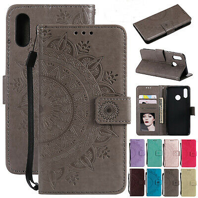 For Huawei P Smart 2019 Case Luxury Leather Magnetic Flip Card Slot Strap Cover