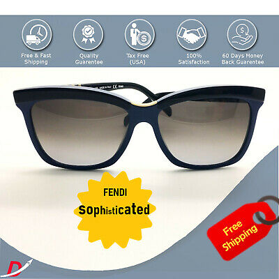 982138c52b5a Fendi Sunglasses Women FS 5281 135 Made in Italy Authentic   Case Blue  Frame NEW