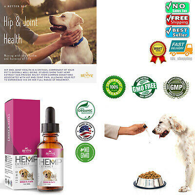 Organic Hemp Oil for Dogs and Cats Pets Stress Anxiety Pain Relief Natural 60ml.