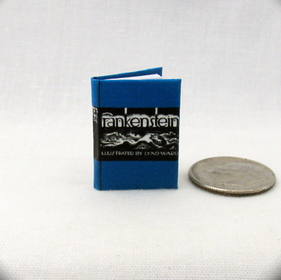 FRANKENSTEIN Miniature Book Dollhouse Book 1:12 Scale Illustrated Readable Book