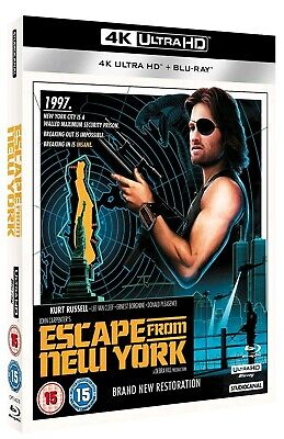 Escape From New York (Bluray 4K) Includes 2D Bluray