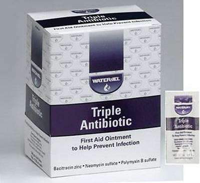 Waterjel Triple Antibiotic First Aid Ointment, 144 Packets Per Box