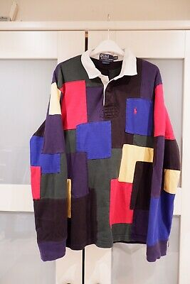 Snow Shirt Palace Vintage Beach Xl Polo Lauren Sport Rugby Ralph Patchwork 7fY6yIbgv