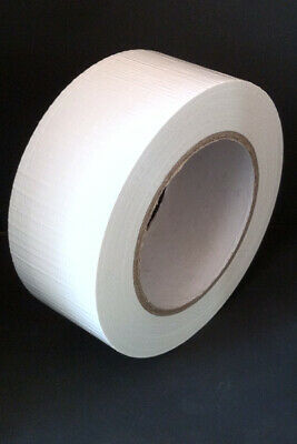 48mm x 45m White Duck Duct Gaffa Gaffer Waterproof Cloth Tape