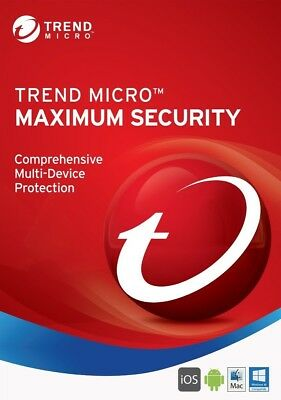 Trend Micro Maximum Security Antivirus 2019 1 year/3 devices Any Region