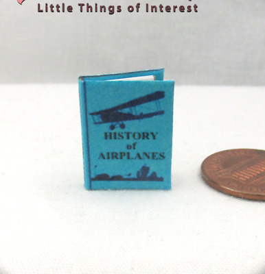 A HISTORY OF AIRPLANES Miniature Book Dollhouse 1:12 Scale Illustrated Readable
