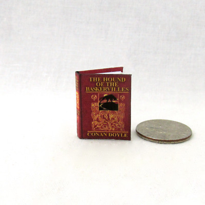 THE HOUND OF THE BASKERVILLES 1:12 SCALE MINIATURE Dollhouse Readable Book