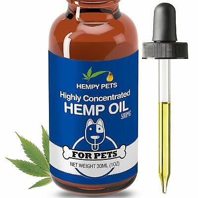 Hemp Oil for Dogs and Cats - 500MG Full Spectrum Extract, Organic & 100% Pure...