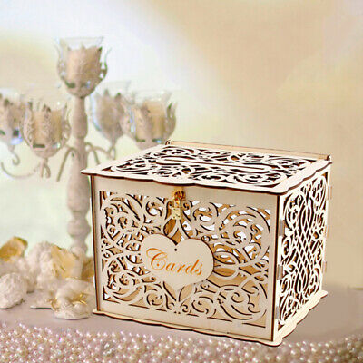 Wedding Wishing Well Wooden Gift Card Box Rustic Money Box Engagement Gift