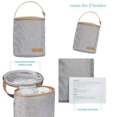 JJ Cole - Bottle Cooler, Insulated Interior for 2 Large Bottles or Sippy...