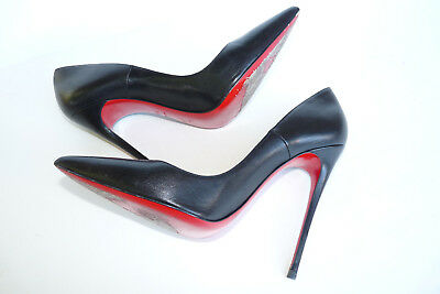 pretty nice 60508 abae5 CHRISTIAN LOUBOUTIN SO Kate 120 Black Kid 39.5 Pigalle Pointed Pumps Heels