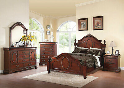 NEW OLD WORLD Cherry Brown Bedroom Furniture - STYLUS 5pcs ...