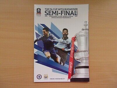 Chelsea Vs. Manchester City. 2013 F.a. Cup Semi-Final. Mint Condition.