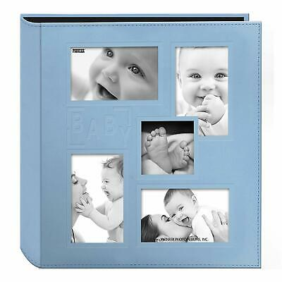 "Pioneer Collage Frame Embossed ""Baby"" Leatherette Cover Album, 4""x6"", 240 Photos"