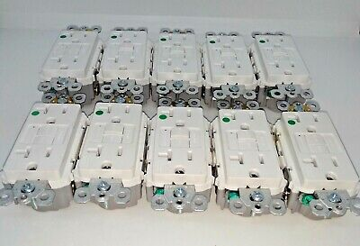 LOT OF 10 Pass Seymour 2097HGW GFCI Residential 20A 120VAC WHITE FREE SHIPPING