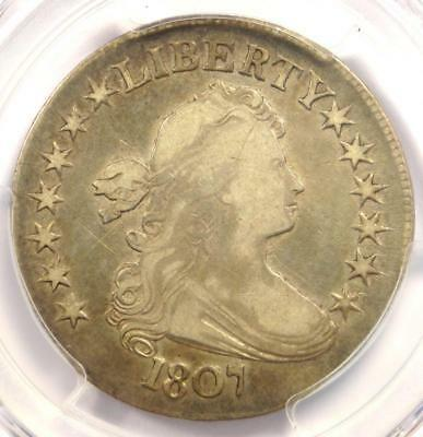 1807 Draped Bust Half Dollar 50C - PCGS VF Details - Rare Certified Coin!
