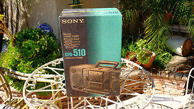 Sony Boombox CD Player AM FM Radio Portable Single Cassette Mega Bass CFD-510