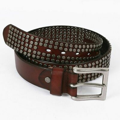 Men Hip Hop Style Antique Pin Buckle Belt Leather Men Casual Fashion Rivet Belts