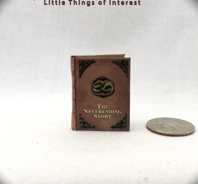 THE NEVERENDING STORY Dollhouse Miniature Book 1:12 Scale Readable Illustrated