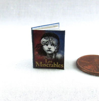 LES MISERABLES Miniature Book Dollhouse 1:12 Scale Readable Illustrated Book