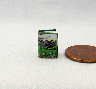 """1:24 Scale Book THE HOBBIT Miniature Book Dollhouse Color Illustrated 1/2"""" Scale"""