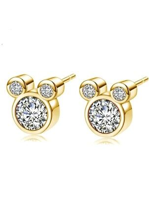d913f16703337 DAZZLING PLATINUM CUBIC zirconia Mickey Mouse stud earrings - $8.95 ...