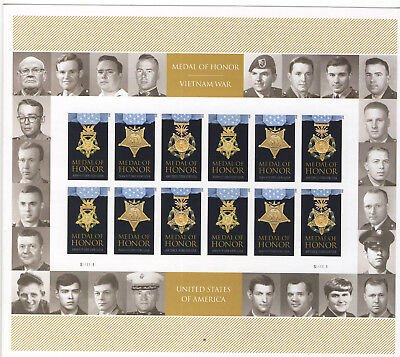 U.S. Postage Stamps MEDAL OF HONOR VIETNAM WAR 24 STAMP SHEET PRESTIGE FOLIO
