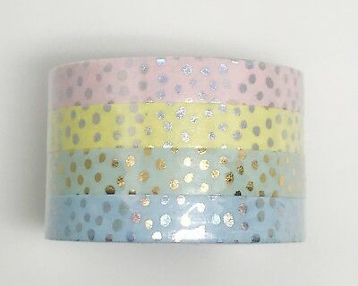 Simply Gilded Washi Tape | Candy Confetti Dots Set of 4 (7.5 mm) | NIP