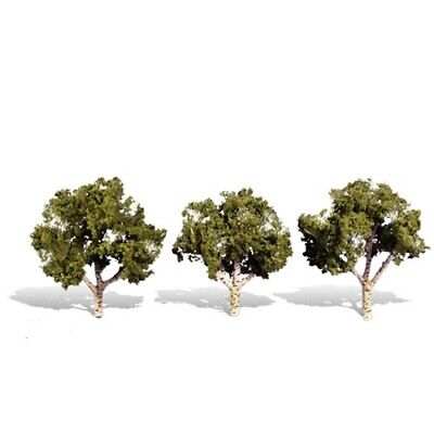 """TR3505 Woodland Scenics Cool Shade 4 Pack 2/"""" 3/"""" Ready Made Trees TMC"""