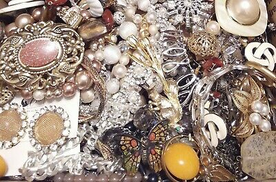 Huge Some Signed Vintage - Now Unsearched Wear No Junk Jewelry Lot Lbs Pounds A