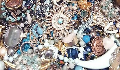 Huge Some Signed Vintage - Now Unsearched Wear No Junk Jewelry Lot Lbs Pounds B