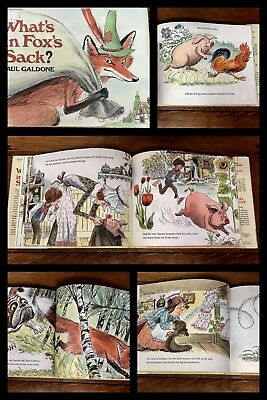WHATS IN FOXS SACK Book Galdone ILLUSTRATED Dust Jacket HARDCOVER Vintage 1982