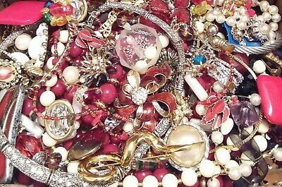 Huge Some Signed Vintage - Now Unsearched Wear No Junk Jewelry Lot Lbs Pounds D