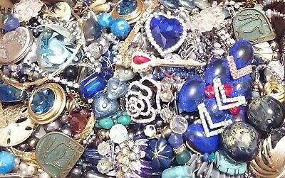 Huge Some Signed Vintage - Now Unsearched Wear No Junk Jewelry Lot Lbs Pounds F