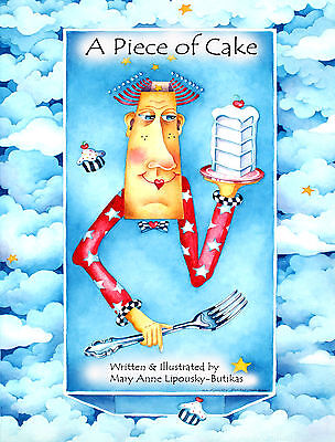 A PIECE OF CAKE Children's POETRY Book Signed Personalized Inspirational Poems