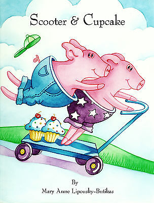 SCOOTER & CUPCAKE Award-Winning Children's Book Signed & Personalized Friendship